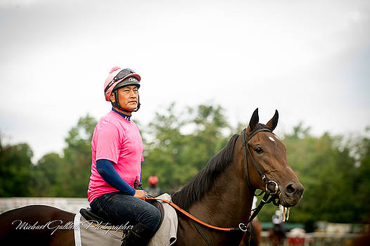 Early Morning Workout at Saratoga 12 by Michael Gallitelli