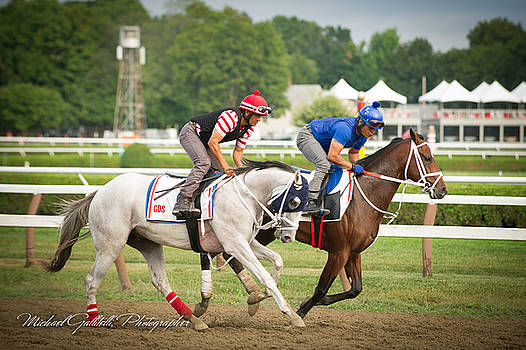 Early Morning Workout at Saratoga 13 by Michael Gallitelli
