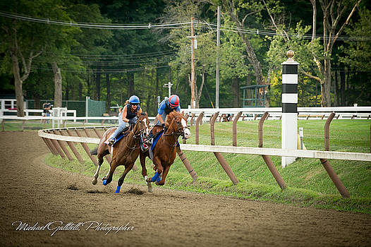 Early Morning Workout at Saratoga 20 by Michael Gallitelli
