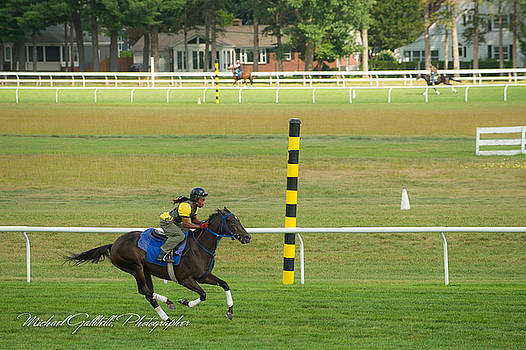 Early Morning Workout at Saratoga 24 by Michael Gallitelli