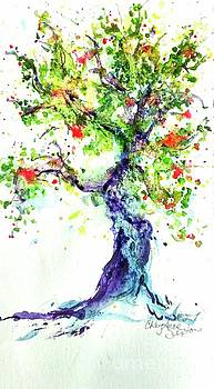 Narly Old Apple Tree watercolour on paper by CheyAnne Sexton by CheyAnne Sexton