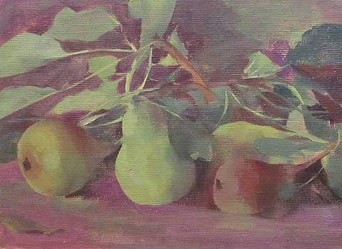 Early Pears by Kelly Lanning Phipps