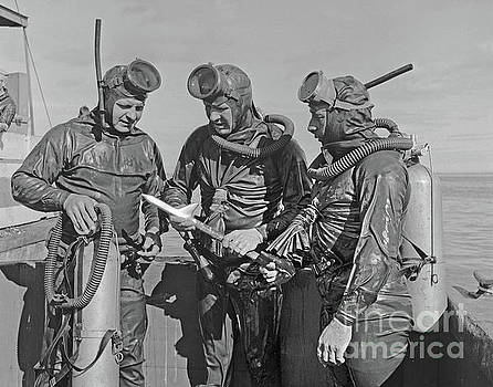 California Views Mr Pat Hathaway Archives - Early Scuba divers in Dry Suits on Monterey Bay Circa 1955