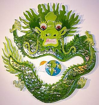 Earth Dragon Circle by Michelle Rial
