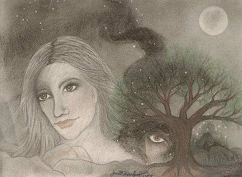 Earth Mother with Spirits of the Night by Janet Hinshaw