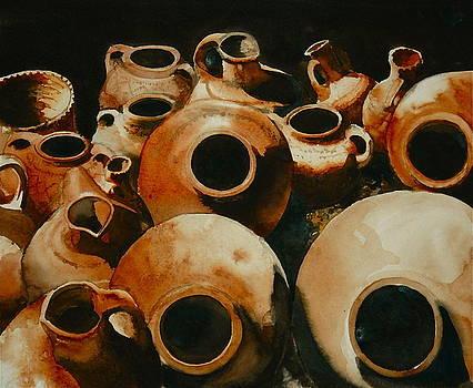 Earthenware jugs by HGW Schmidt