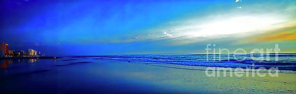 East Coast Florida Daytona Beach Morning Walkers  3030300173 by Tom Jelen