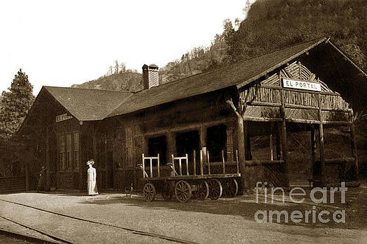 California Views Mr Pat Hathaway Archives - East end of the El Portal Depot. Note the open waiting area circa 1910