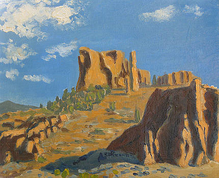 East Entrance to Yellowstone by D T LaVercombe