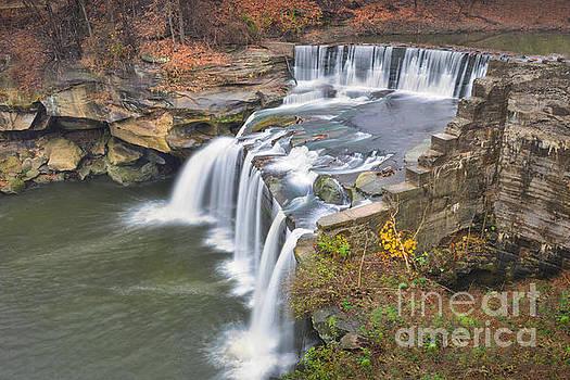 East Falls of the Black River Elyria, Ohio by Brian Mollenkopf