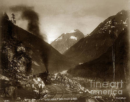 California Views Mr Pat Hathaway Archives - East fork from Rocky Point Alaska  H. C. Barley photo 1899