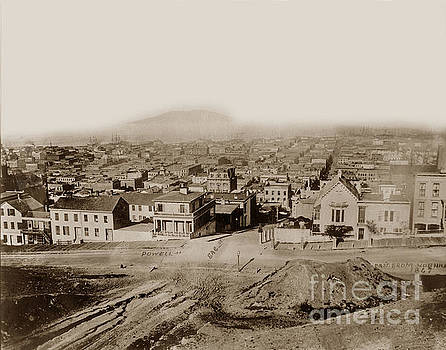 California Views Mr Pat Hathaway Archives - East from Nob Hill Powell at Sacramento streets San Francisco 1867