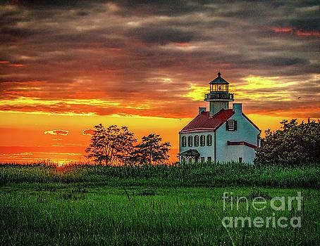 East Point Lighthouse Sunset by Nick Zelinsky