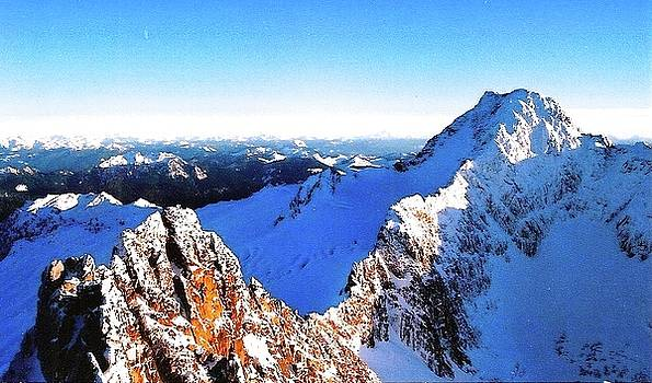 East Ridge of South Twin Sister Washington 2005 by Leizel Grant