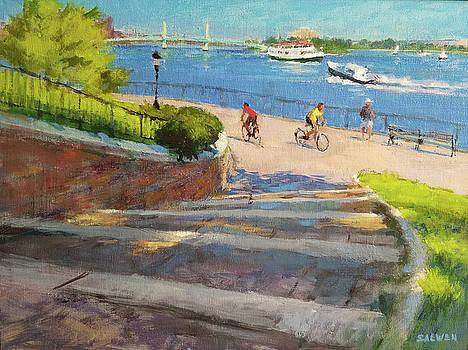 East River from Carl Schurz Park by Peter Salwen