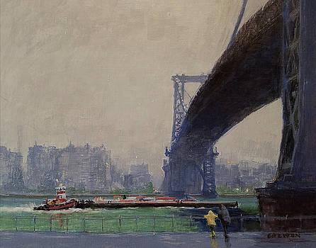 East River Mist by Peter Salwen