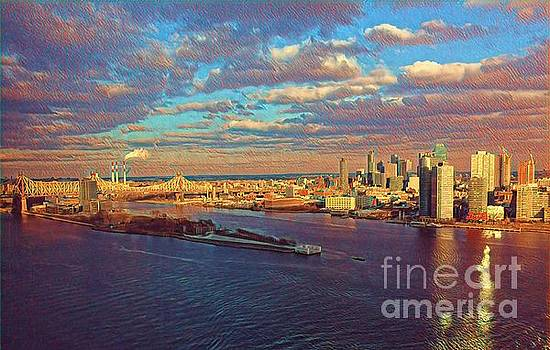 East River Sunset by Miriam Danar