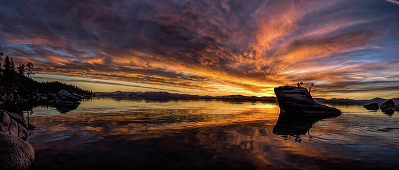 East Shore sunset panorama by Martin Gollery