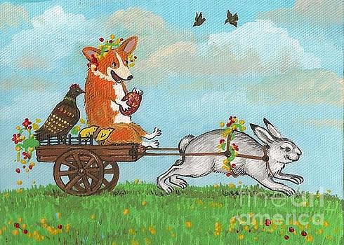 Easter Carriage by Margaryta Yermolayeva