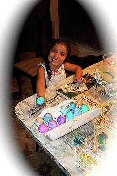 Coloring Easter Eggs by The Art of Alice Terrill