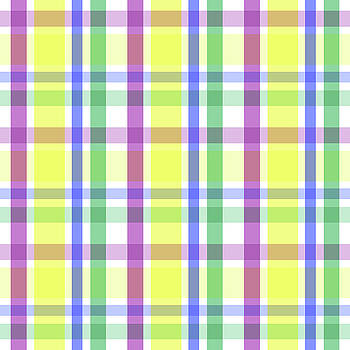 Easter Pastel Plaid Striped Pattern by Shelley Neff