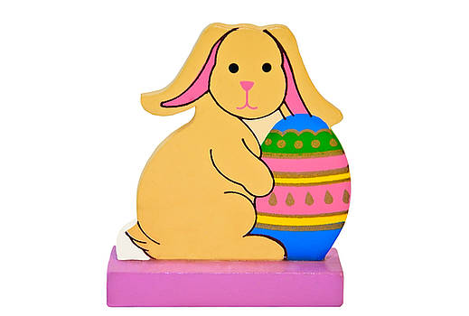 Easter Rabbit With Egg by Susan Leggett