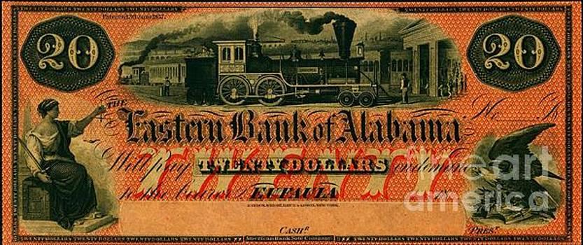 Peter Ogden - Eastern Bank of Alabama 1859 Locomotive Private Bank Note
