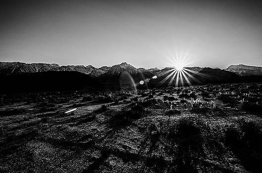 Margaret Pitcher - Eastern Sierra Sunset in Monochrome