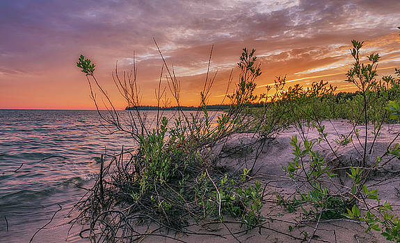 Eastern Upper Peninsula Sunset by Marybeth Kiczenski