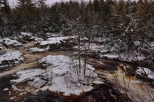 Dale Kauzlaric - Eau Claire Dells Snow Covered Island