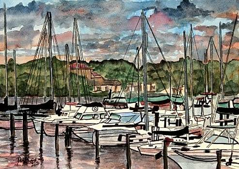 Eau Gallie Seascape painting by Derek Mccrea