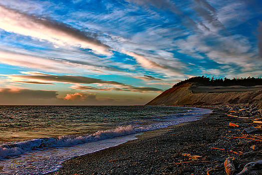 Ebey's Landing and Clouds by Rick Lawler