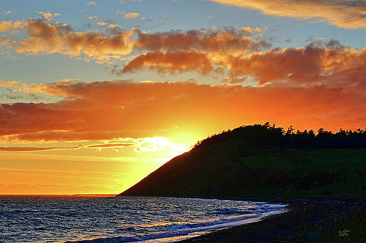 Ebey's Landing Sunset Glow by Rick Lawler