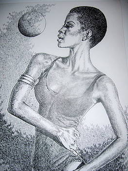Ebony Dancer by Otis  Cobb