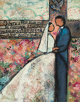 Ecclesiastes 4 12 Wedding Art by Jen Norton
