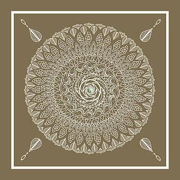 Ecru Mandala by Deborah Smith