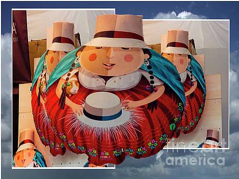 Ecuadorian Fiesta Chola Art by Al Bourassa