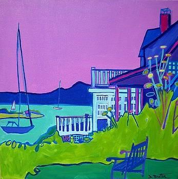 Edgartown Porches by Debra Bretton Robinson