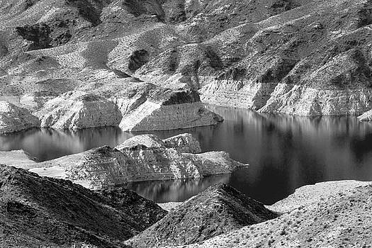 Edge of Lake Mead BW by Bonnie Follett