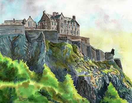 Edinburgh Castle from Princes Street by Timithy L Gordon