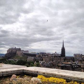 Edinburgh Castle Hill As Seen From by Stefano Bagnasco