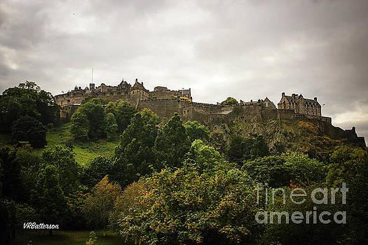 Edinburgh Castle Overlooking Princes Street Gardens by Veronica Batterson