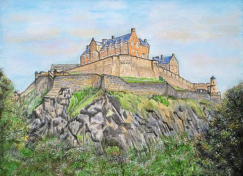 Edinburgh Castle by Yvonne Johnstone