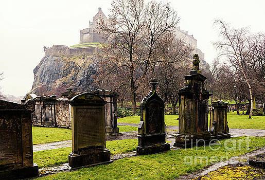 Sophie McAulay - Edinburgh graveyard below the castle