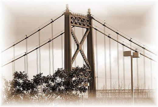 Edison Bridge Sepia by Jackie Bodnar