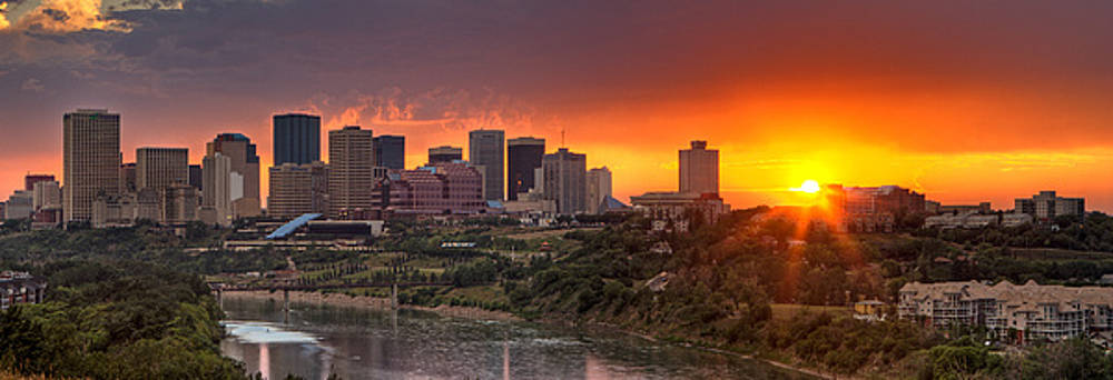 Edmonton Sunset by Paul Burwell