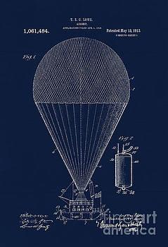 Tina Lavoie - Edwardian age airship blueprint patent drawing, Steampunk