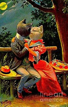 Peter Gumaer Ogden - Edwardian Cats in Love