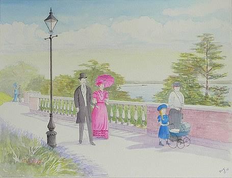 Edwardian Family Stroll by David Godbolt