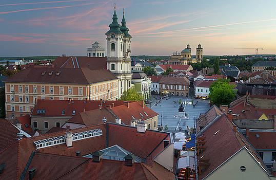 Eger Hungary, Castle View by Adonis Villanueva